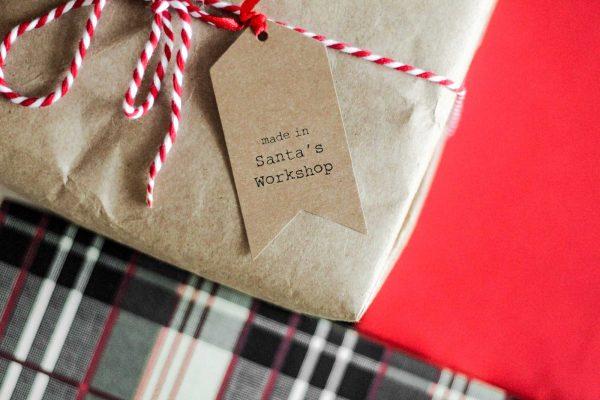 Santa Christmas gift