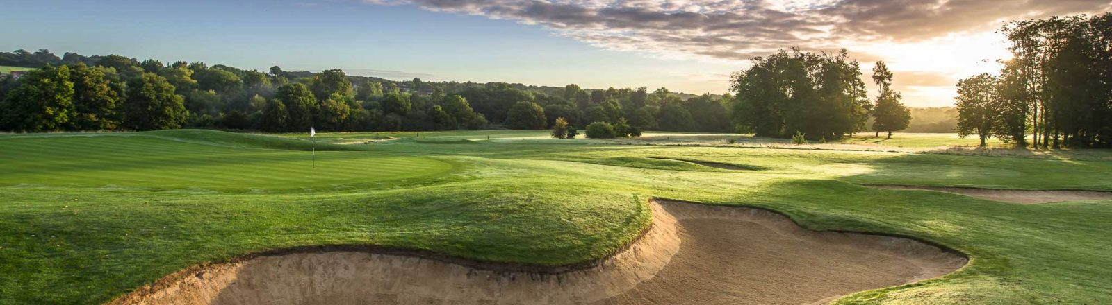 Aldwickbury Park Golf Course at sunset